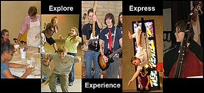 explore, express, experience, camps