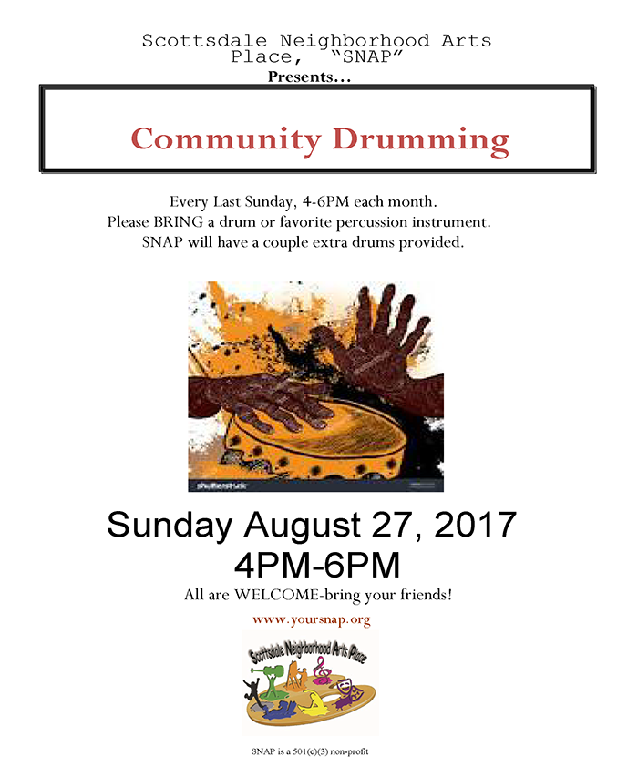 Community drumming circle